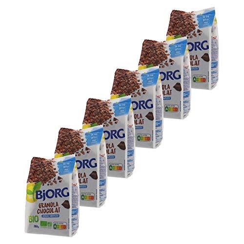 Bjorg Granola Chocolat Bio - Céréale complète pour le petit déjeuner - 350 g - Lot de 6