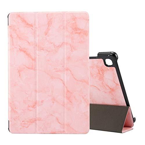 HH-Phone - Funda para Samsung Galaxy Tab A7 T505, diseño de textura de mármol con tapa horizontal, con soporte plegable y hangma de reposo/despertar (color rosa