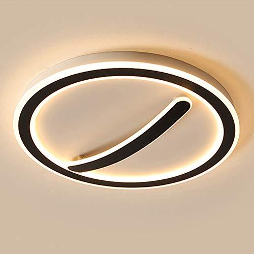 Lámpara de techo LED dorada redonda para dormitorio moderna y regulable con control remoto Lámpara blanca fría luz neutral blanca cálida para ahorrar energía lámpara ecológica para sala de estar,Bø45