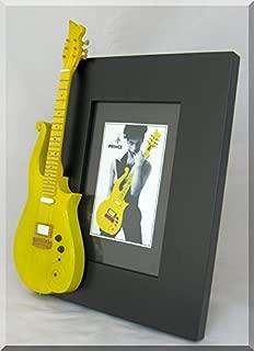 PRINCE Miniature Guitar Photo Frame Yellow/Peach Cloud