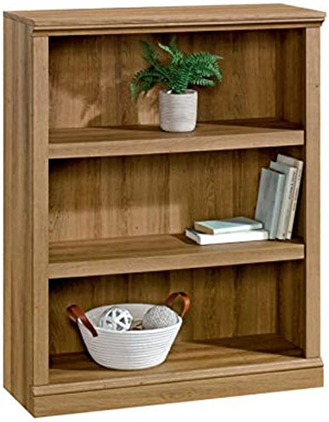 Realspace Premium Bookcase 3 Shelf Golden Oak
