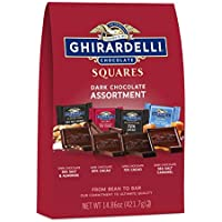 Ghirardelli Dark Assorted Squares XL Bag 14.86 Ounce