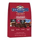 Ghirardelli SQUARES Dark Chocolate Assortment Experience our slow-melting dark chocolate in this collection of luscious and indulgent flavors. This assortment of individually wrapped Ghirardelli SQUARES are perfect for sharing with family and friends...