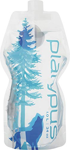Platypus Ultralight Collapsible SoftBottle with Closure Cap, Wild Blue, 1.0-Liter