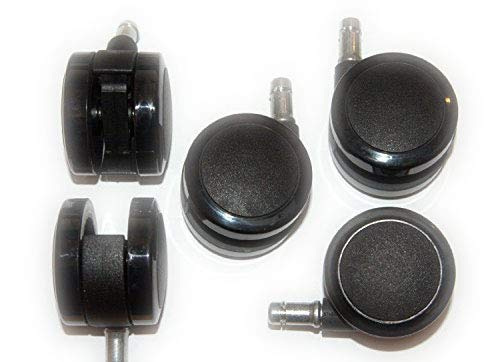 Herman Miller 2.5-Inch Aeron Office Chair Replacement Caster Set for Hard Floor (Set of 5) (Renewed)