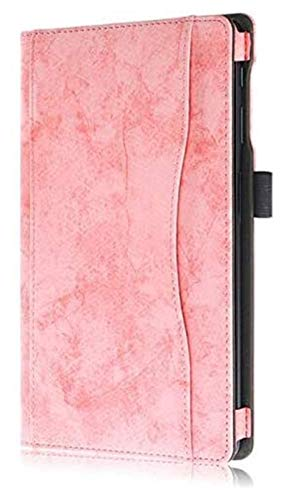 WSY Tab Accessories for Samsung Galaxy Tab a 10.1 T510 T515, Hand Holder+pen PU Leather Tablet Cover for Samsung Tab a 10.1 (Color : Pink)