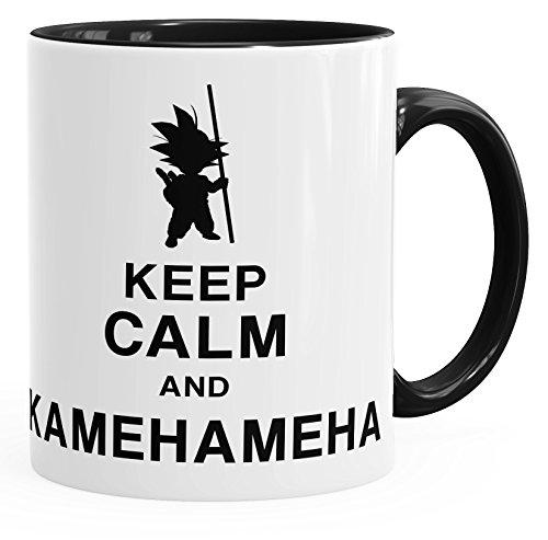 MoonWorks Son Goku Tasse Keep Calm and Kamehameha Dragon Ball schwarz Unisize