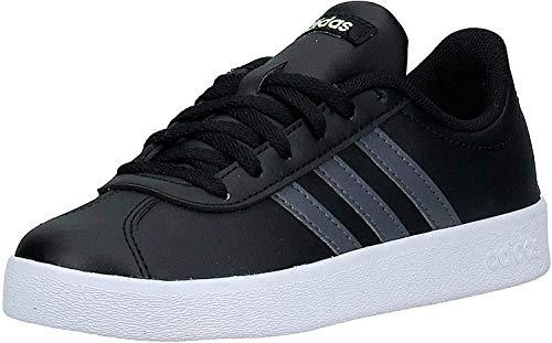 Adidas Vl Court 2.0 K, Zapatillas De Deporte Unisex Niños, Multicolor (Negbás/Gricin/Amalre 000), 28 EU