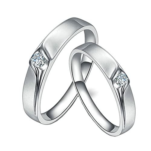 KnSam Mujer Hombre Unisex 18K oro blanco redonda blanco Diamond