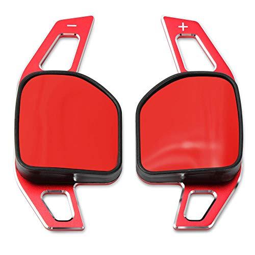 CHNY Paleta de Cambio de Volante Extensión de Engranaje de Palanca de Cambios de Volante de Coche de Aluminio, para Seat Alhambra Ateca Leon FR Leon Leon 4 5F Leon mk3-Red