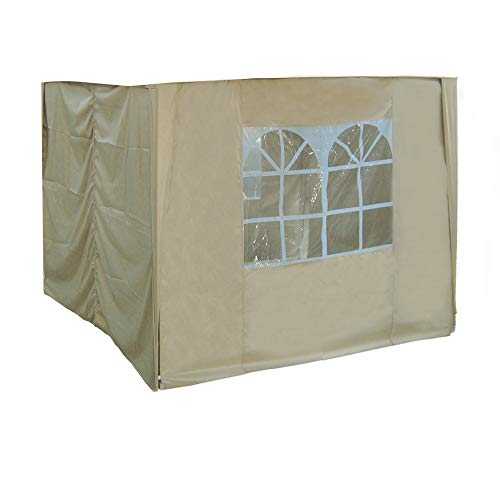 Greenbay 2x2m Pop Up Gazebo 4 Side Curtains Replacement Only Canopy Side Covers Beige