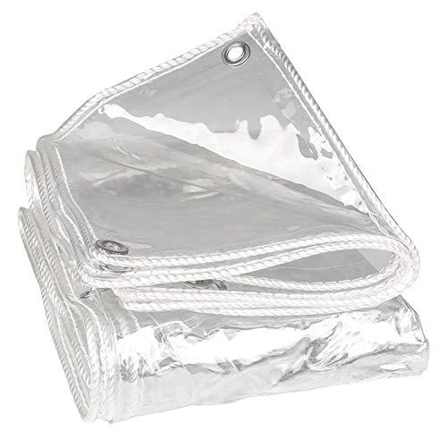 KAISIMYS Cubierta de Mesa de Billar a Prueba de Sombra y Lluvia Lona Impermeable, Cubierta de Lona de plástico Transparente Resistente para toldo de jardín, balcón, Carpa, Barco (Color: Transparente,