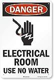 SmartSign - S-6388-AL-12x18 'Danger - Electrical Room, Use No Water' Sign | 12' x 18' Aluminum
