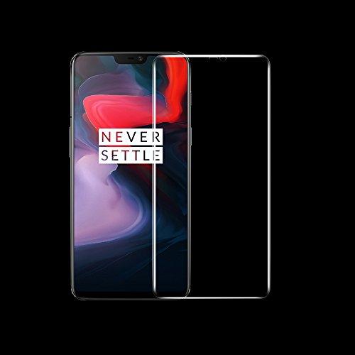 ONICO Bildschirm Schutzfolie für OnePlus 6,TPU Selbstheilend Anti-Bläschen 3D-Gebogenen Volle Bedeckung Folie kompatibel mit OnePlus 6 [2 Stück]