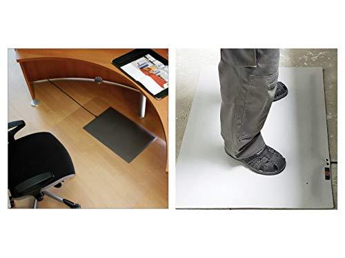 Infrarot Bodenheizmatte Heizmatte grau für Innen und Außen mit Regler Fußheizmatte Marktstandheizung