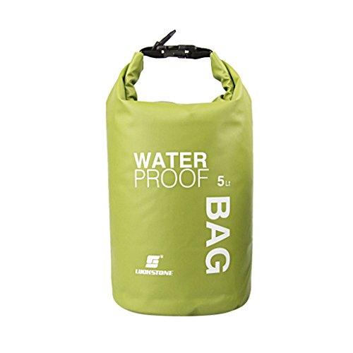Générique Non-Brand Sac étanche Sac étanche Sac Kayak Camping Rafting Flottant 5l Vert