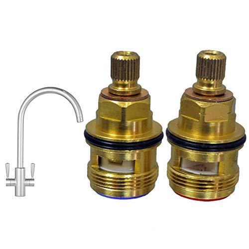 Ceramic Disc Cartridges Tap Valve Quarter Turn Gland 1/2 Spare Replacement 3308R