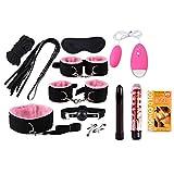 cicikiki 12 Stück Leder Set Sonder Binding Set SM Kit für Paare, Erwachsene reizvolle Spielzeug