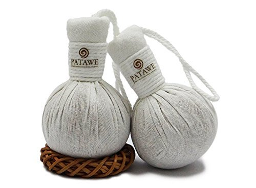 Patawe Luxury Thai Herbal Foot Compress Massage Ball Aids Aching Feet 2x50g