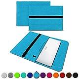 UC-Express Sleeve Hülle kompatibel für Trekstor Primebook C13 / P14 / P13 / P14B Tasche Filz Notebook Cover 13,3-14 Zoll Laptop Hülle, Farben:Türkis