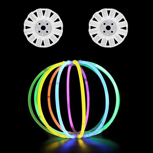 AKlamater Leuchtstäbe, 12–24 Stunden Leuchtdauer, Haarnadel, Laterne, Apfel, Totenkopf, Brille für Weihnachten, Party, Geburtstag (Laternenzubehör)