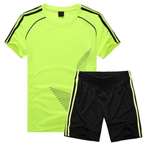 Inlefen Uniforme de Futbol Traje Niño Manga Corta Sudadera y Pantalones Cortos Niños niñas Ropa de Entrenamiento