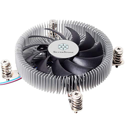 SilverStone Technology SST-NT07-115X-USA LGA1150/1151/1155/1156/1200 CPU Cooler Low Profile 23mm Tall for 65W TDP Support with 80mm PWM Fan SST-NT07-115X