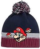 Coole-Fun-T-Shirts Super Mario Mütze Kinder Original Pudelmütze Wintermütze Jungen Strickmütze Rot Gr. 52 und 54 cm (52)