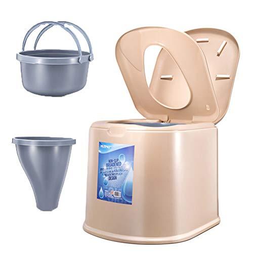 Kitrack Sedile Toilette Portatile Amovibile Paziente Anziano Rimovibile Donna Incinta Antiscivolo,Brown