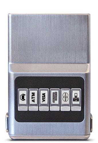 RFID Blocking ProTek ACM Wallet - Credit Card Holder, Front Pocket Organizer & Money Clip, Easy Push Button Use