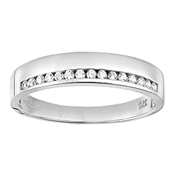 Elegantly crafted in Italy from 9 ct white gold for a rich tone and brilliant sparkle Wedding; eternity ring weight 1.9 g, earring height 0.16 cm, earring width 0.45 mm Citerna boasts classic gold and silver jewellery that is both adaptable and timel...