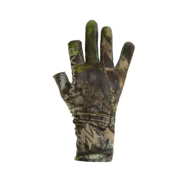 Nomad mens Fingerless Turkey Glove | Camo Hunting Glove With Fingerless Pointer and Thumb