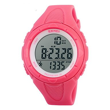 Fashion Watches mooie horloges, vrouwen stappenteller mode sporthorloge digitaal LCD-alarm stopwatch (kleur: roze, grote keuze: one size)