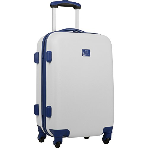 Anne Klein 20'  Hardside Carry-On Spinner Luggage, White/Navy