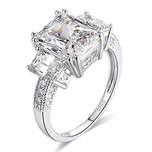 ButiRest Oro blanco 585/1000 radiante White Moissanite
