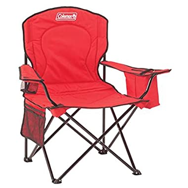 Coleman 2000020264 Cooler Quad Portable Camping Chair, Red