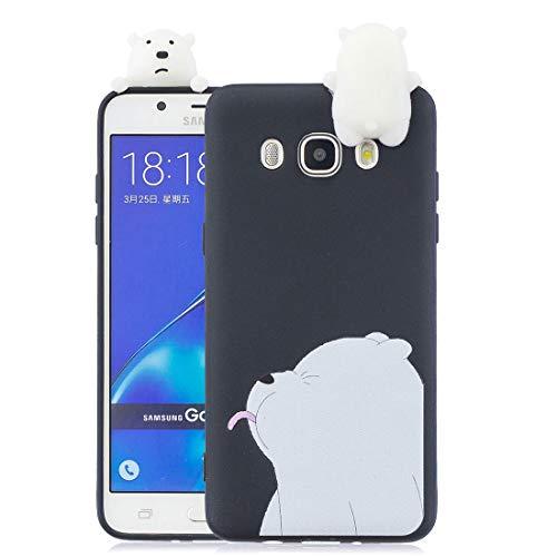 YuanYuZhongPhoneSky Samsung Galaxy J5 2016 J510 Custodia, Samsung Galaxy J5 2016 J510 Copertura, [Case Molle TPU del Orso Bear del Silicone Sveglio 3D Flessibile] Anti-Graffi e Anti-Polvere
