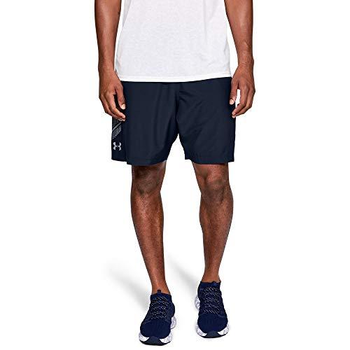 Under Armour Woven Graphic, ultraleichte und atmungsaktive Sporthose, robuste Sportshorts mit loser Passform Herren, Academy / Steel , L