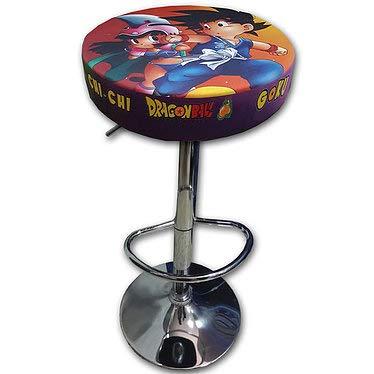 Roboticaencasa Taburete Arcade DISEÑO Goku +Chichi Retro Mueble Silla