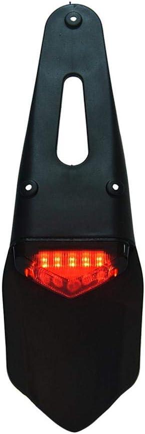 luces traseras del freno de la motocicleta Luces traseras de la matr/ícula del guardabarros LED para bicicleta de tierra rojo Suuonee Luz trasera de la motocicleta