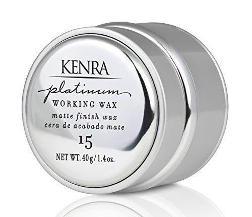 Kenra Platinum Working Wax 15 | Matte Finish Styler | All Hair Types | 1.4 fl. Oz