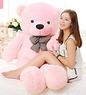 GURUDEV Loveable HUGABLE Soft Giant Life Size , Long Huge Teddy Bear(Best for Someone Special) (5 Feet, Pink)