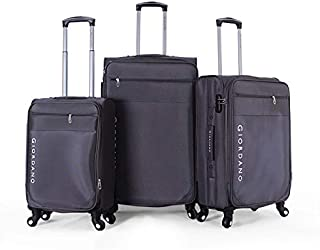 جيوردانو طقم حقائب سفر بعجلات,  3 قطع مع 4 عجلات, رمادي - 1617126