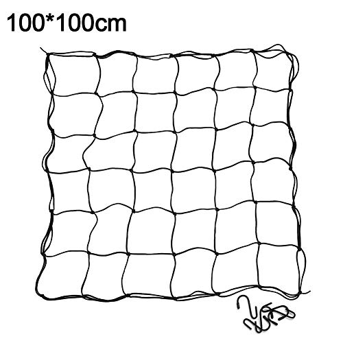 Spalier Netting 8 Haken Pflanze Kletternde Gemüse Flexibel Bohne Zaun Garten Vorrat Heim Wachsen Zelt Elastisch (60x60cm) - 100x100cm