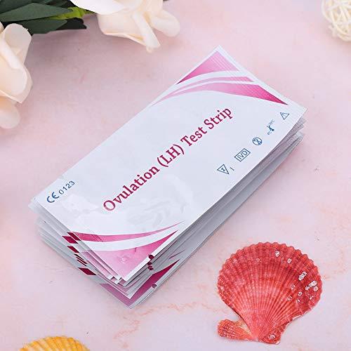 Kudoo Tira de Prueba LH de 10 Piezas, Kit de predicción de ovulación, Monitor de fertilidad de predicción de ovulación para Prueba de Embarazo para Prueba de ovulación