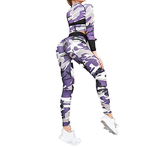conjunto ropa deportiva mujer bohemio chic 2pc conjuntos de sujetador crop top pantalon leggings yoga chandal estampada flores monos jumpsuit sportwear para gym running pilates fitness camuflaje damas