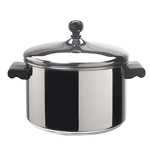 Farberware Classic Stainless Steel 4-Quart Covered Saucepot - - Silver