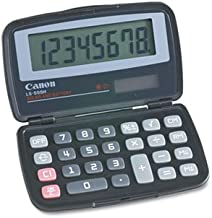 Canon Products - Canon - LS-555H Basic Calculator, Eight-Digit LCD - Sold As 1 Each - Foldable for ultracompactness. - Large 16 mm digit display size for easy readability. - Adjustable display angle for different levels of ambient light. - Solar and battery-powered for use in any lighting condition. -