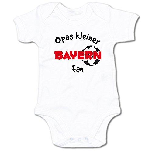 G-graphics Opas Kleiner Bayern Fan Baby Body Suit Strampler 250.0285 (3-6 Monate, weiß)