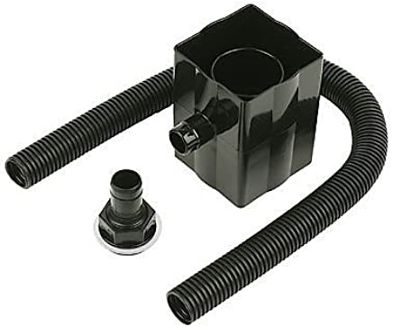 BLACK Marley Gutter Pipe Socket With Fixing Lugs RLE1B for 65mm Square Downpipe